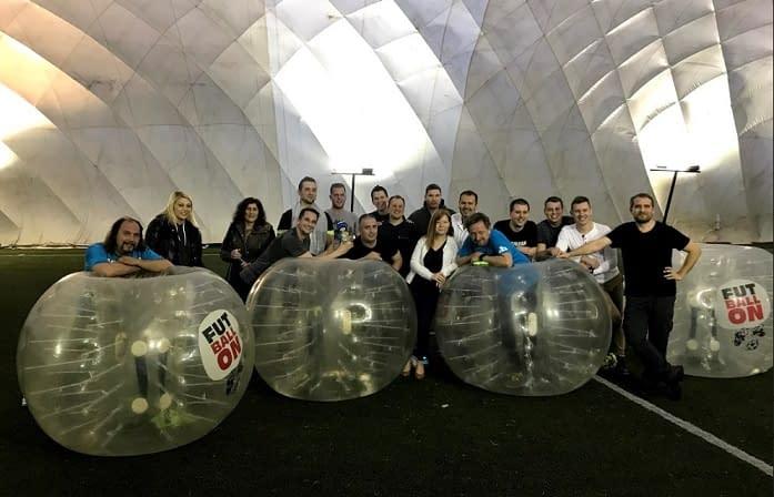 csapatépítés, céges rendezvény, buborékfoci