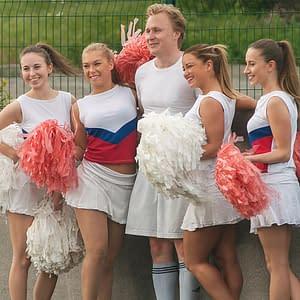 futballon buborékfoci pompom pom lányok legénybúcsú