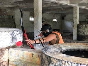 archery tag legénybúcsú csapatépítő program íjász harc